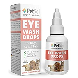 PetSol Gentle Eye Care Drops for Dogs and Cats