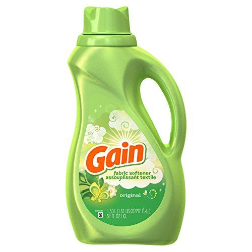 Gain Liquid Fabric Softener, Original, 51 fl oz 60 loads