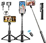 HOMEDII Selfie Stick, Selfie Stick Tripod,Aluminum Alloy Selfie Stick Tripod with Wireless Bluetooth Remote Shutter for Android,iPhone 11/11 Pro Max/XS Max/XS/XR/X/8/7 and Sport Camera,GoPro