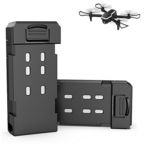 allcaca Batteria per quadricottero S171 RC, 2 confezioni da 3,7 V, 500 mAh, batteria al litio modulare per drone RC