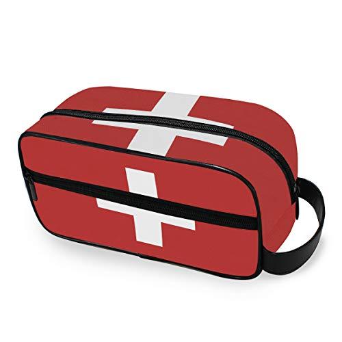 Bolsa de Aseo de Viaje, diseño de Bandera de Suiza