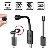 Spy USB Hidden Camera, 1080P Portable Small HD Nanny Cam with Motion Detective, Security Camera for Home and Office-No WiFi Needed