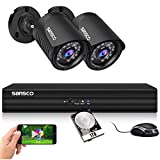SANSCO Smart Home 1080p CCTV Camera System, 4CH DVR Recorder with 1TB Internal Hard Drive, (2) 2.0MP HD Indoor & Outdoor Bullet Cameras with Full Metal Casing (1920x1080)