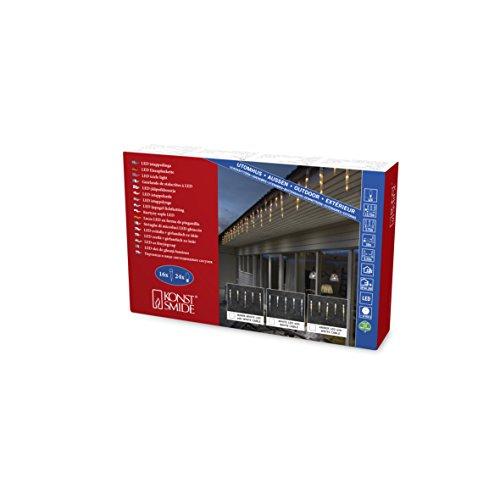 Konstsmide 2745-802 Rideau Lumineux Effet Neige à LED, Plastique, 7 W, Or, 1375 x 1 x 32 cm