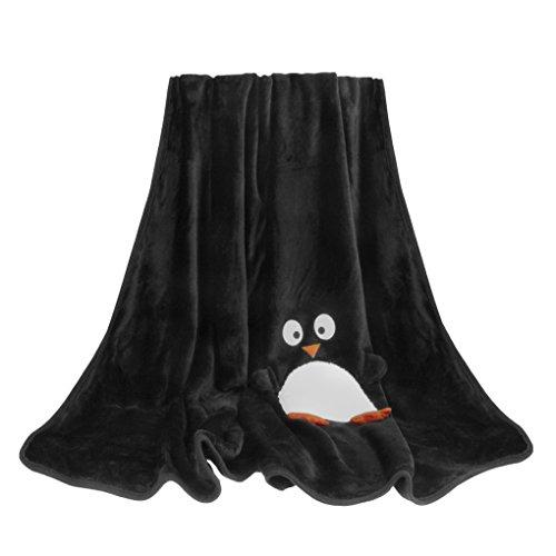 FakeFace Weiche Kuscheldecke Sofa Decke Wolldecke mit Weihnachten-Motiv Bettdecke Blankets für Damen Herren Kinder Schlafzimmer Sofa Auto in alle Jahreszeit 120x160CM-Pinguin