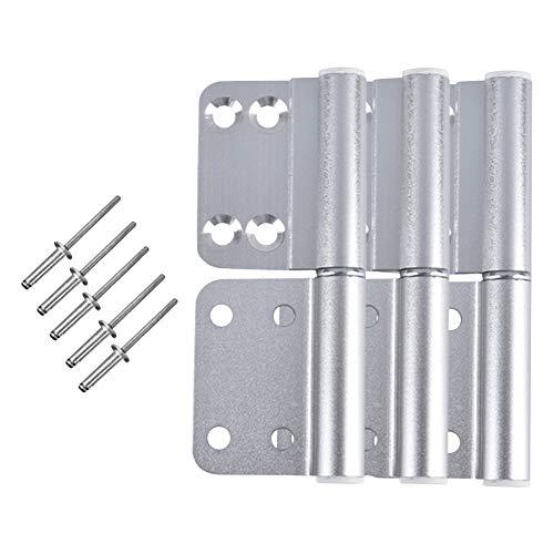Gtagain Baño Puerta Bisagras - 3PCS Aluminio Aleación Plegable Desmontable Tope Bisagra...