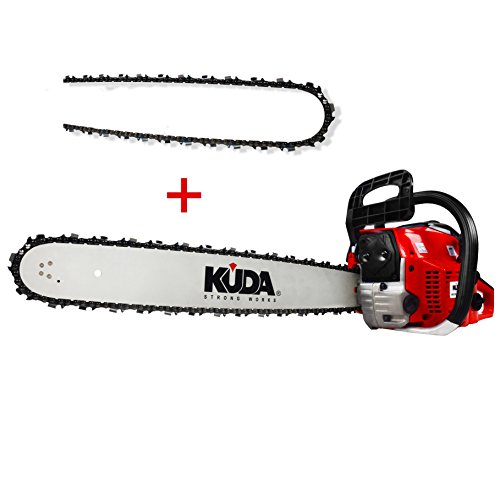 KUDA CN-52 Petrol Chainsaw 2 Stroke Red Sword 50cm 3HP 52cc