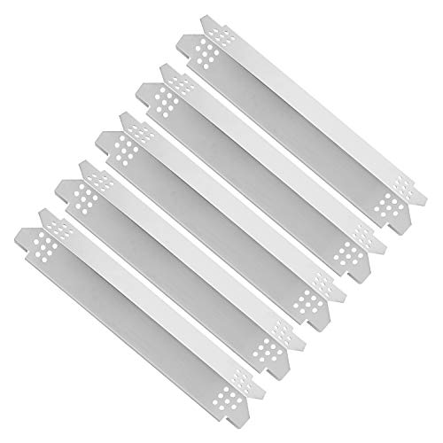 DcYourHome Heat Plate Shields for Nexgrill 720-0830H, 5 Burner 720-0888, 720-0888N, 6 Burner 720-0896B, 720-0898 Gas Grills, Stainless Steel Heat Tent Flame Tamer (5 Pack)