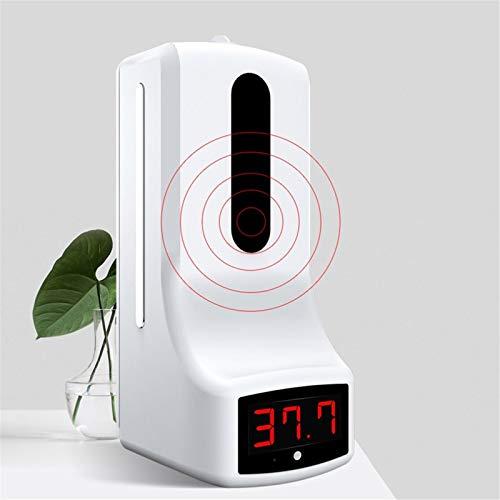 ZYC K9 Pro 2-in-1 berührungsloses digitales Infrarot-Thermometer und 1000 ml automatischer Seifenspender Alkohol Desinfektionsgel Gel Home Clean Support 5 Landessprachen,K9 pro