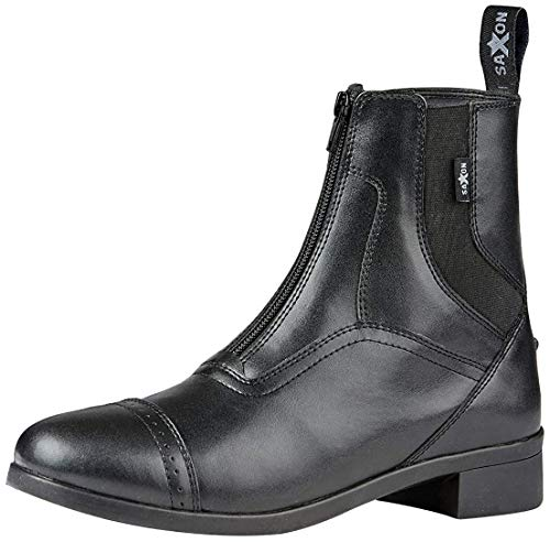 Saxon Syntovia Adults Horse Riding Zip Paddock Boots - Black: Adults 5