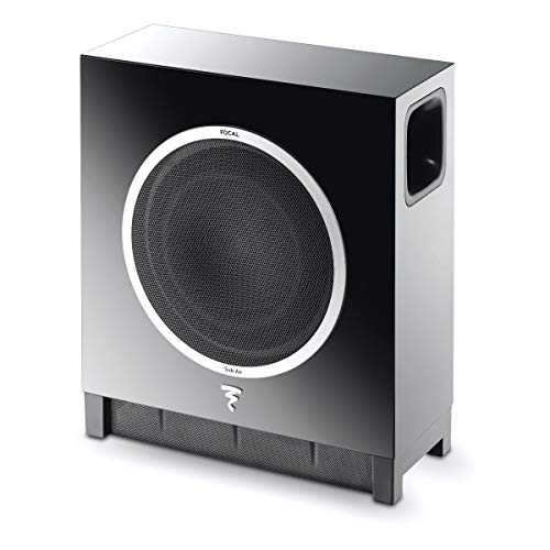 Focal Sub Air Subwoofer (High-Gloss-Optik, Funkverbindung, an der Wand montierbar) schwarz