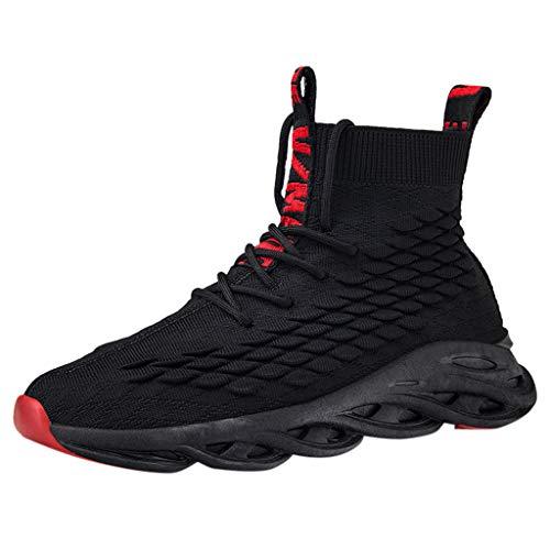 WERVOT Sneaker Herren Sportschuhe Atmungsaktiv Gym Turnschuhe Leichtgewicht Laufschuhe Lace Up Freizeitschuhe Trainer Outdoor Sneaker Shoes Hohe Schuhe