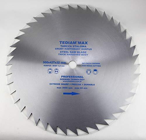 Hoja de sierra circular Max (500 x 4 mm, para madera, 500 x 32-20 mm, 42 dientes)