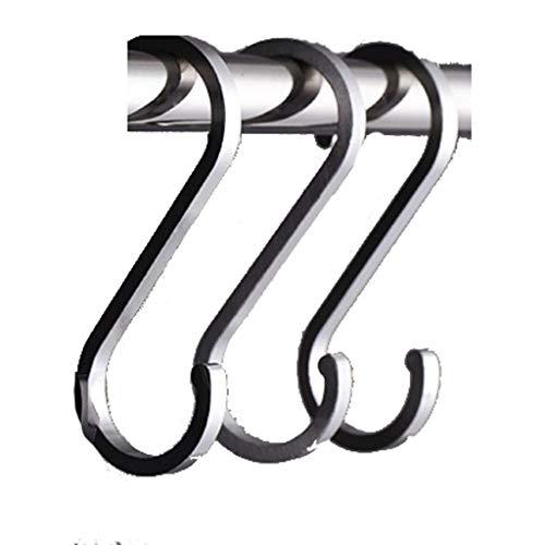 Handdoekenrek Sluit Hook Up S-haak Hook achter de deur Hanger S Hook Keuken S Hook Non-marking Worst Worst Bacon Hook XXT (Kleur: 15) (Color : 15)