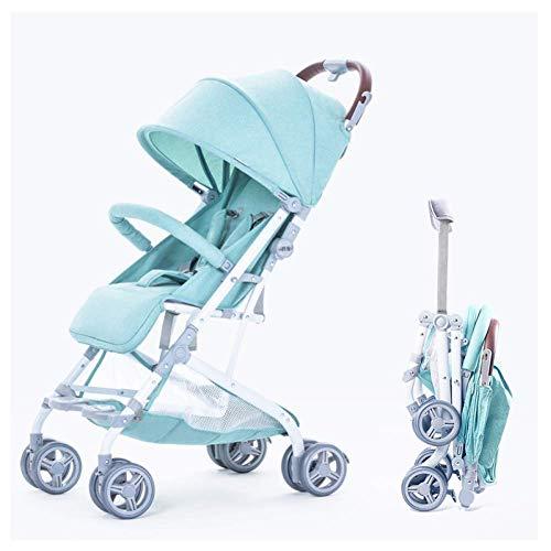MNBV El Cochecito Puede Sentarse o acostarse, Plegable, portátil, Ligero, para niños, bebé, Sistema de Viaje, 0-3 años, E-Pullrod