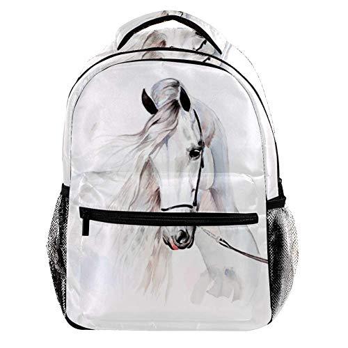 TIZORAX Zaino Subacqueo Danger Shark Scuola Zaino College Bag Bookbag Escursionismo Viaggio Zaino per Donna Uomo Motivo 5 29.4x20x40cm/11.5x8x16 in