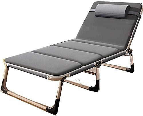 NYZXH Silla de relajación, cero de la silla de siesta de la oficina de gravedad, cama plegable, sillón de patio de salón al aire libre, sillón de playa, sillón de reclinación plegable ajustable sofá-5