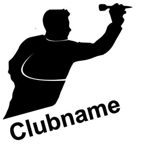 Generic Dart Aufkleber Club oder Auto Aufkleber Dartpfeile Aufkleber Dartspielen (139/3) (15cm, weiß Glanz)
