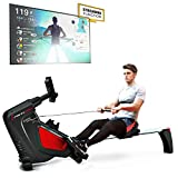 Sportstech RSX500 Rowing Machine - German Quality Brand - Competition Mode - incl. heart rate monitor (worth: £39,90) 16 programs - magnetic resistance - tablet holder - foldable