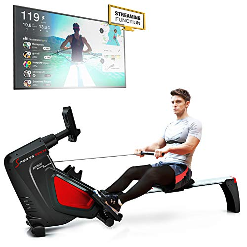 Sportstech RSX500 Rowing Machine - German Quality Brand - Competition Mode - incl. heart rate...