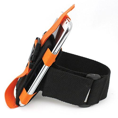 Gogogo jogging course bracelet de bras sac de téléphone portable de qualité pour lG g5 iPhone 6 plus (orange)