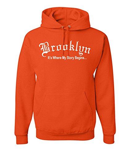 Brooklyn Hoodie-M-Orange