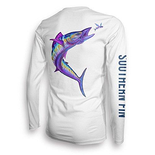 Youth Fishing Shirt for Kids Boys Girls Long Sleeve UV Southern Fin Apparel