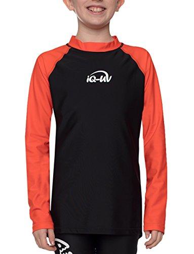 iQ-Company Kinder UV Kleidung 300 Langarm-Shirt, Mehrfarbig (Siren-Black), 140/146