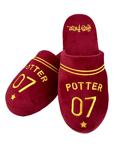 The Gro Company Harry_Potter_Quidditch_Slippers, Pantuflas Hombre, Brown, 42/44.5 EU
