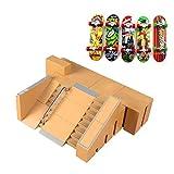 Dedo De Monopatín, 5 Piezas De Skate Park Kit De Piezas Mini Rampa Rieles Diapasón Starter Kit Con 5 Fingerboards Niños Del Muchacho De Los Niños Presente