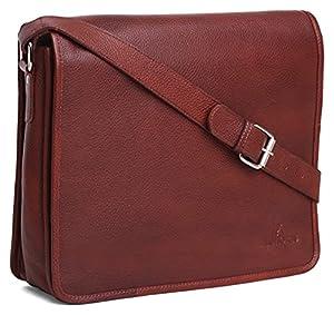 Leather Bag for Men (Maroon)