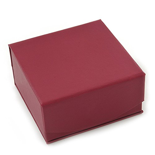 Elegante scatola regalo quadrata, color mirtillo, con chiusura magnetica