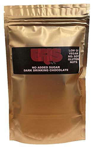 ERIS no Added Sugar Drinking Chocolate - 130g Pouch - Instant, Vegan-Friendly, Low-GI, Keto-Friendly, Soy-Free, Gluten-Free, nut-Free, Cocoa, erythritol