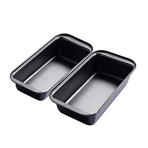 Bread Pans for Baking, Nonstick Carbon Steel Loaf Pan, Medium Loaf pans , Set of 2,Loaf Pan Square bread Pan