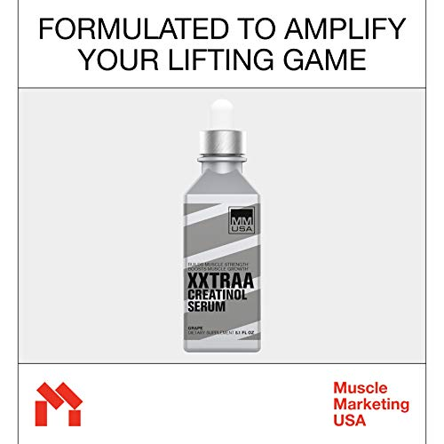 XXTRAA Muscle Builder Creatine Serum  Optimizes Muscle Pump. Support Lean Muscle Growth. Fuels Muscle Cells, Steady Energy Recharge + Strength Gain. Bioavailable, Small Dose and Instant Absorption.