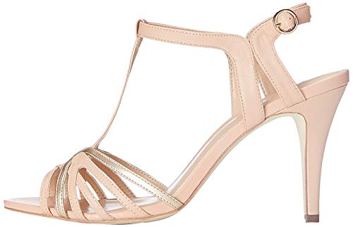find. Sandali con Chiusura a T Donna, Multicolore (Peach/ Rose Gold), 38 EU