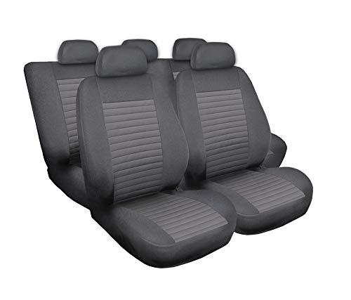 Saferide | Universele grijze stoelhoezen complete set stoelhoezen voor auto stoelbeschermers set beschermhoezen autostoel autostoelhoezen stoelhoezen modern