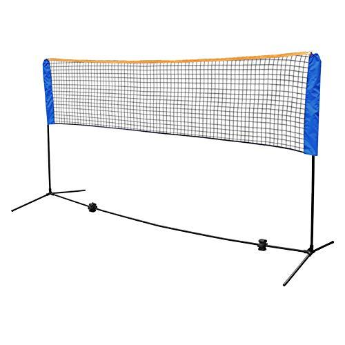 TYX Tragbares Tennisnetz Einstellbar Faltbares Multifunktionales Badmintonnetz Tennisnetz Volleyballnetz Für Spielplatz Backyard Sport Training,5M