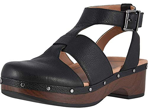 Vionic Women's Day Faye T-Strap Casual Clog - Ladies Clog with Concealed Orthotic Support Black 7M