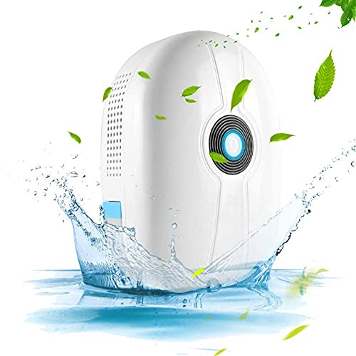 New Electric Quiet Mini Dehumidifier 500ML(16.9 oz) Capacity Compact and Portable for High Humidity in Home Kitchen Bedroom Bathroom Basement Caravan Closet Office RV Garage with Auto Shut Off