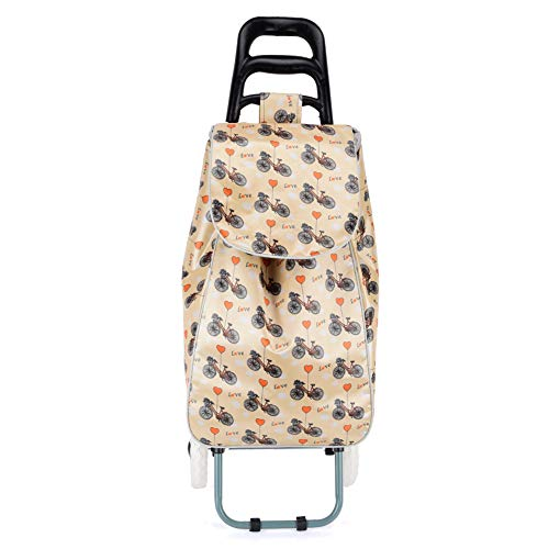 Ebbly Bolsa multiusos con estampado de flores – Bolsas de la compra de gran capacidad para alimentos, bolsa de viaje con ruedas, bolsa de viaje multifunción portátil