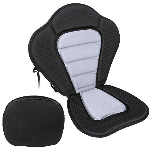 PELLOR Kanusport Sitzstuhl, rutschfest Verstellbare Rafting Kajakfahren Rückenlehne Sitz mit bnehmbaren Sitzbeutel Tasche Weich