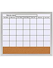 Pizarra Calendario Combinación De Corcho Tablero De Anuncios Marco De Aleación De Aluminio para Dormitorio Familiar Aula Oficina 52,7X45 CM