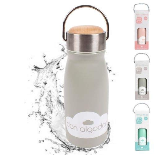Edelstahl Thermosflasche Mädchen/Junge grau 350ml **von Baby bis Kinder Alter** Trinkflasche Thermoskanne Isolierflasche Kind auslaufsicher