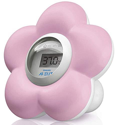 Philips Avent Baby Bade und Raum Blume Thermometer–Pink.