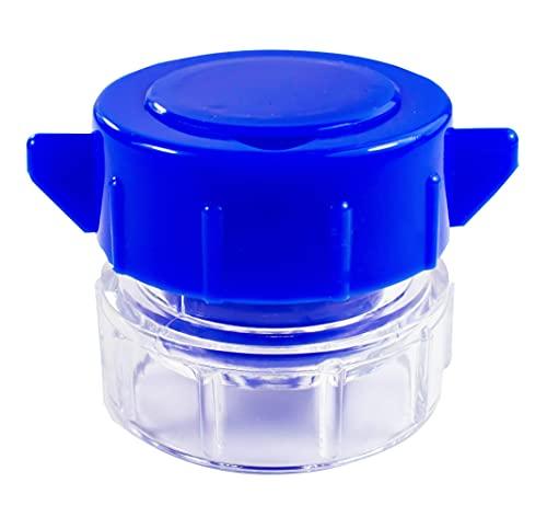 Medi-Inn Tablettenmörser blau | Tablettencrusher zum Zerkleinern von Tabletten | mit Aufbewahrungsfach