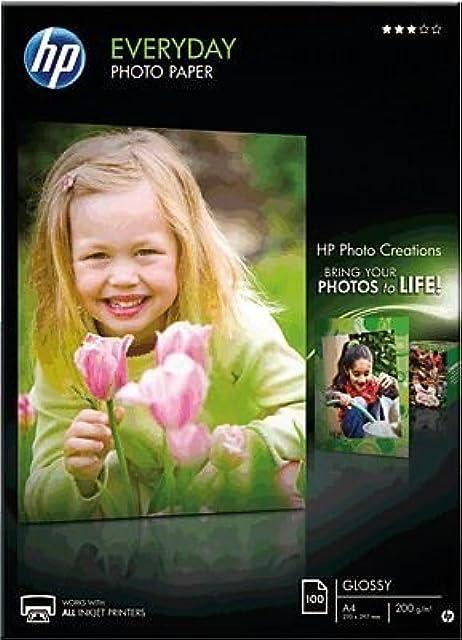Hp Everyday Photo Paper Q2510A - Papel de fotografía brillante A4 (210 X 297 mm) 100 hojas