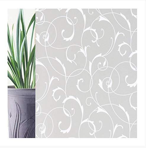 QZXCD raamfolie raamfolie glasfolie decoratiefolie anti-aanbaklaag plakfolie zonder lijm voor de badkamer. 60 x 100 Cm E