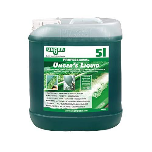 Unger's Liquid 5 Liter Fensterreinigungsmittel Glasreinigungsmittel Fensterputzmittel Glasputzmittel