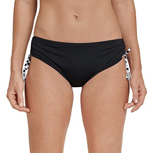 Schiesser Damen Mix & Match Bikinislip FS Midi Bikinihose, Schwarz (Schwarz 000), 38 (Herstellergröße: 038)